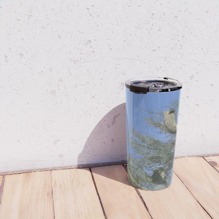 Saguaro Abstract Travel Mug