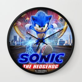 The Hedgehog Sonic 2020 Wall Clock