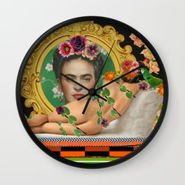 Contemplating Frida Wall Clock