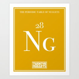 Periodic Table of Nuggets Art Print