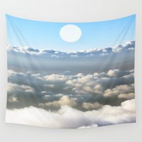 poetry Wall Tapestries featuring Poetry sky clouds  by Stop4Design