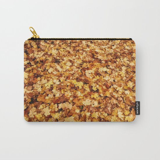 Gold yellow fall maple leaves Carry-All Pouch