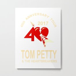 Tom Petty & The Heartbreakers 40th Anniversary Tour 2017 Metal Print
