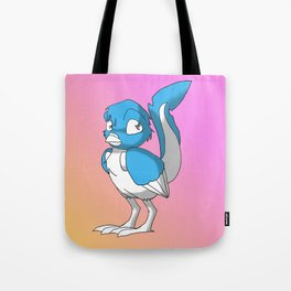 Light Blue/Color-Or-Paint-Your-Own Reptilian Bird 4 #ArtofGaneneK #Animal Tote Bag