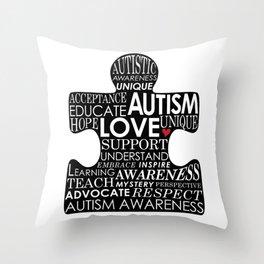 Autism Awareness Love Throw Pillow
