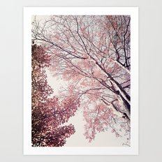 The Trees – Pink n' Bright Art Print