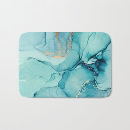 Abstract Turquoise Art Print By LandSartprints Bath Mat