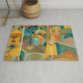 """Paul Klee """"Temple Gardens 1920"""" Rug"""