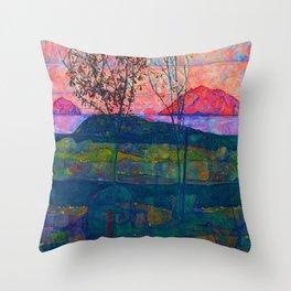 Egon Schiele Setting Sun Throw Pillow