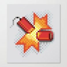 Pixel Boom Canvas Print