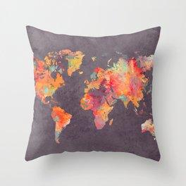 world map 67 Throw Pillow