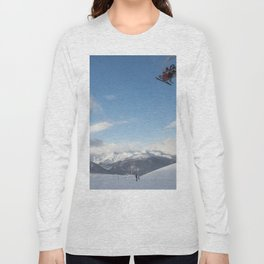 Skiers on chairlift 2 Long Sleeve T-shirt