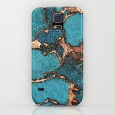 AQUA & GOLD GEMSTONE Galaxy S5 Slim Case