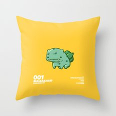 001 Bulbasaur Throw Pillow