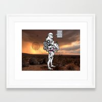 trooper Framed Art Prints featuring trooper by Bern