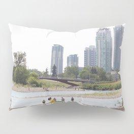 St. Patrick's Island river scene Calgary Pillow Sham