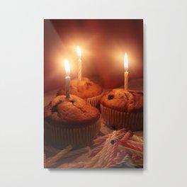 Birthday Cupcakes!!! Metal Print