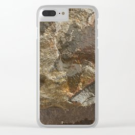 Rock Map 2 - Organic World Map Series Clear iPhone Case