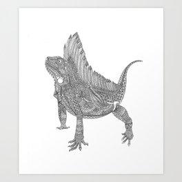 Iguana Xamânica Art Print
