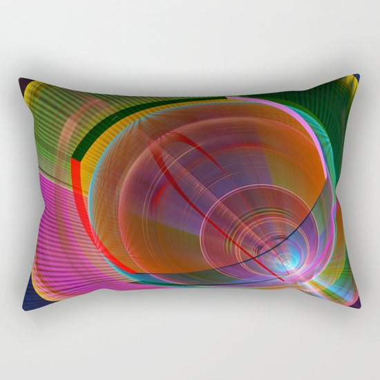 Colourful geometric abstract Rectangular Pillow