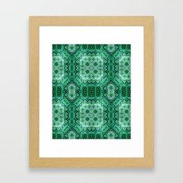 Green Mosiac Framed Art Print