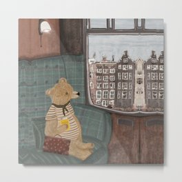 a new adventure for bear Metal Print