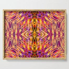 Funkydelic - Purple Yellow Red Geometric Serving Tray