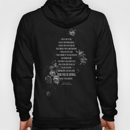 Bene Gesserit Litany Against Fear Hoody