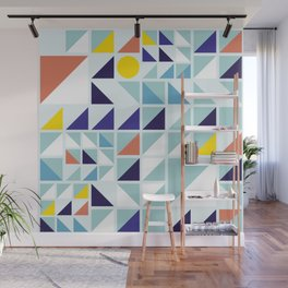Sunny Geometric Regatta #pattern Wall Mural
