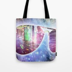 The city, the stars, and the avie shades. Tote Bag