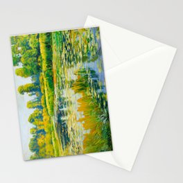 Václav Radimský (1867-1946) Water Lilies Impressionist Landscape Painting Bright Colors Oil Stationery Cards