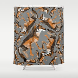 Totem Iberian wolf Shower Curtain