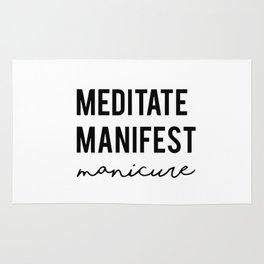 Meditate manifest manicure Rug