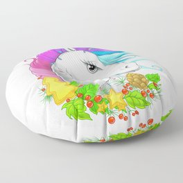Xmas Unicorn Floor Pillow