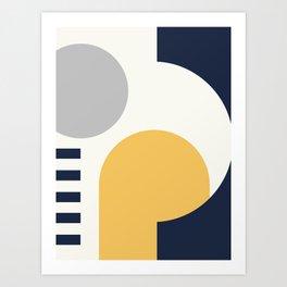 42506-9-p1, Set Yellow Grey Blue, Bauhaus Style Art, Boho decor Art Print