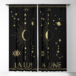 The Moon or La Lune Gold Edition Blackout Curtain