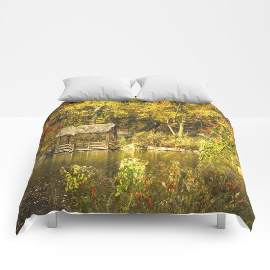 Autumn Lakeside Retreat Comforters