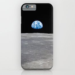 Earth Rising, Galaxy Background, Universe Large Print, Space Wall Art Decor, Deep Space Poster Decor iPhone Case