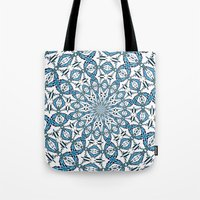 snowflake Tote Bags featuring Snowflake by Stay Inspired