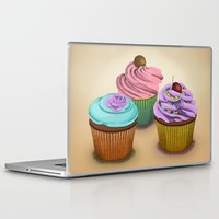 cupcakes Laptop & iPad Skins featuring Cupcakes!  by Megs stuff...