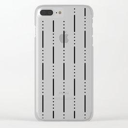 Morse Code #159 Clear iPhone Case