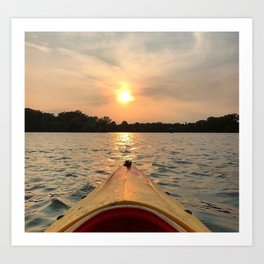 Paddle Into the Sunset Art Print