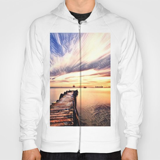 Dock over Water (Sunset Lake) Hoody