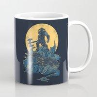 skyrim Mugs featuring The Dragon Slayer by Fanboy30
