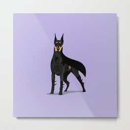 DoberKnight Metal Print