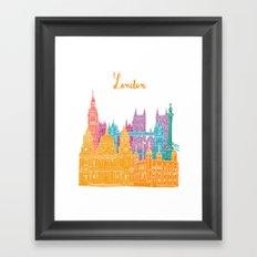 Colours of the city - London Cityscape Framed Art Print