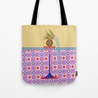 bread Tote Bags featuring Ancient Bread #1 by Paco Dozier