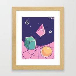 Pastel Shapes Framed Art Print