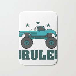 """""""Monster Trucks Rule"""" luxurious and glorious inspired tee design for rider like you! Bath Mat"""
