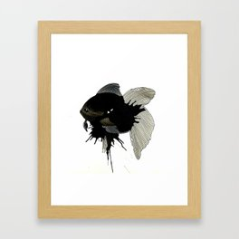 Striped fins Fish Framed Art Print